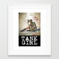 tank girl Framed Art Prints featuring Tank Girl by Joe Badon