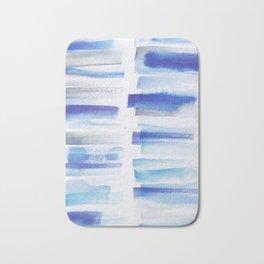 5| 181101 Watercolour Palette Abstract Art | Lines | Stripes | Bath Mat