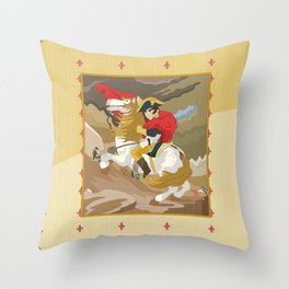 Napoleon Crossing the Alps by  Jacques-Louis David  Throw Pillow