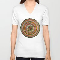 tree rings V-neck T-shirts featuring tree rings by Asja Boros