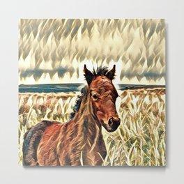 Impressive Animal - Foal Metal Print