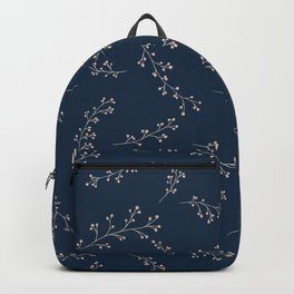 Berry Branches Pattern in Blue and Pink Backpack
