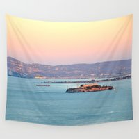 infamous Wall Tapestries featuring ALCATRAZ by Teresa Chipperfield Studios