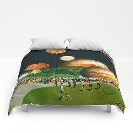 Fungi Waterfalls Comforters