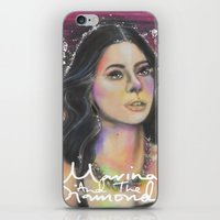 rose gold iPhone & iPod Skins featuring Rose Gold by totoderder