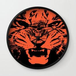 Tiger Vector Wall Clock