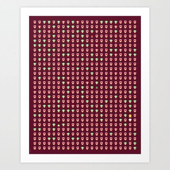 Mario Capsules Art Print