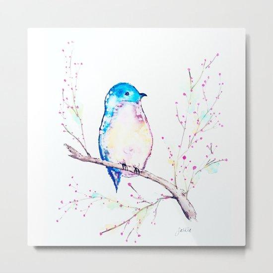 Little Bluebird Metal Print