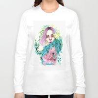 garden Long Sleeve T-shirts featuring Garden  by Veronika Weroni Vajdová