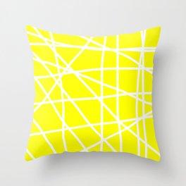 Doodle (White & Yellow) Throw Pillow