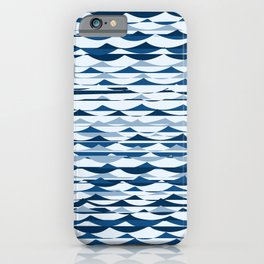 Glitch Waves - Classic Blue iPhone Case