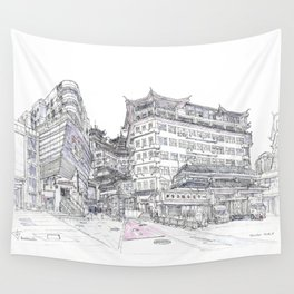 ShenZhen. China. Market Wall Tapestry