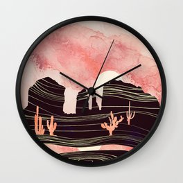 Rose Desert Wall Clock