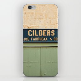 Vintage store sign iPhone Skin