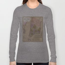 Vintage Map of New York City (1839) Long Sleeve T-shirt