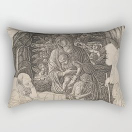 Andrea Mantegna - The Adoration of the Magi (Virgin in the Grotto) Rectangular Pillow