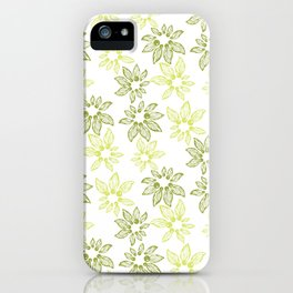 Abstract flowers with tiny beads iPhone Case