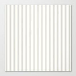 Gold ticking stripes Canvas Print