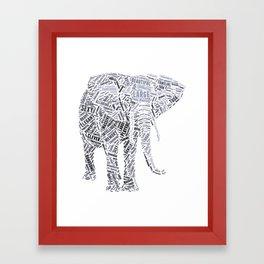 My Spirit Animal is an Elephant Framed Art Print