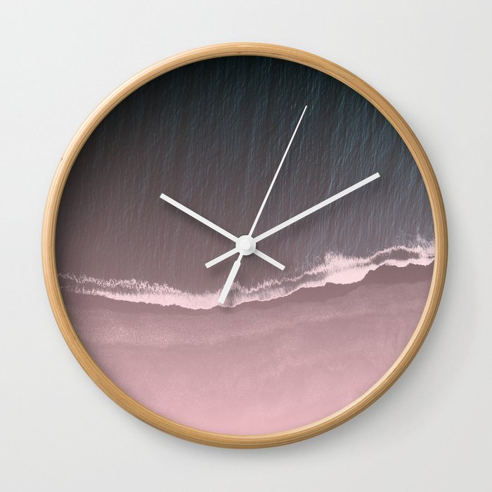 Fade into the sea Wall Clock