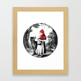 Hey there little red riding hood Framed Art Print
