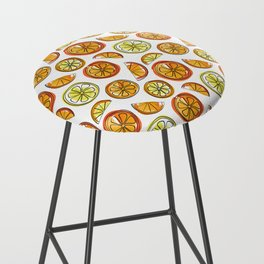 Illustrated Oranges and Limes Bar Stool