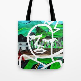 King of Seagulls - Impressionist Abstract painting Tote Bag