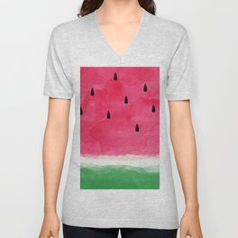 Watermelon Abstract Unisex V-Neck