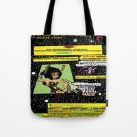 "hentai Tote Bags featuring Space Chick & Nympho: Vampire Warrior Party Girl Comix #1 - Comic Book Page "" In A Galaxy Not So Far by Tex Watt"
