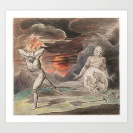 CAIN FLEEING FROM THE WRATH OF GOD - William Blake Art Print