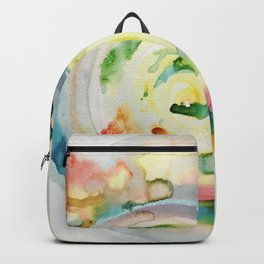 Miami Beach Watercolor #4 Backpack