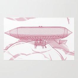 Airship 2, vector engraving Rug