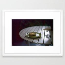 Caramel Cheesecake Framed Art Print