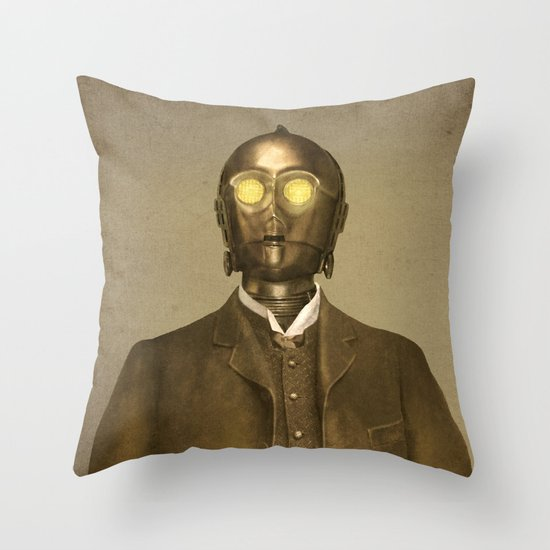 Baron Von Three PO - square format Throw Pillow