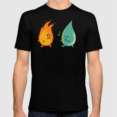Impossible Love (fire and water kiss) Black Mens Fitted Tee MEDIUM