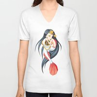 little mermaid V-neck T-shirts featuring Mermaid by Freeminds