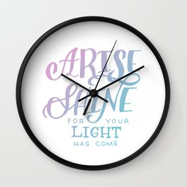 ARISE // SHINE Wall Clock
