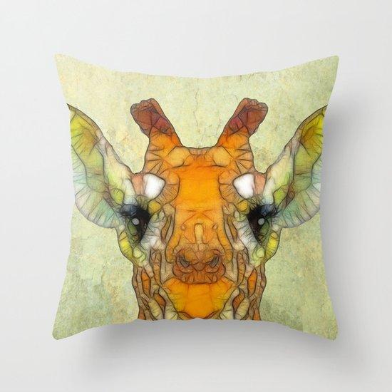 abstract giraffe calf Throw Pillow