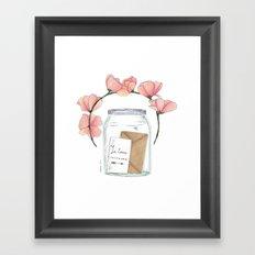 Je t'aime toujours Framed Art Print