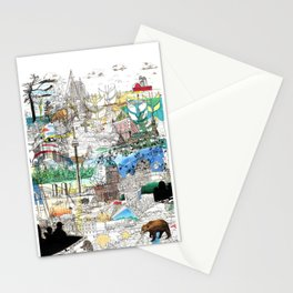Canada (portrait version) Stationery Cards