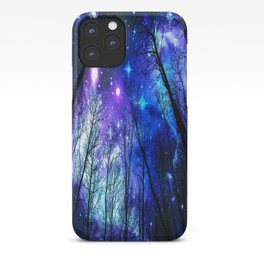 black trees purple blue space copyright protected iPhone Case