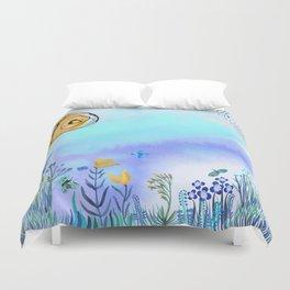Blue Garden II Duvet Cover