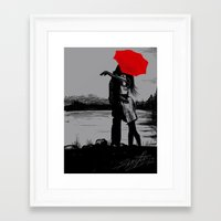 gray Framed Art Prints featuring Gray... by Anush's Art