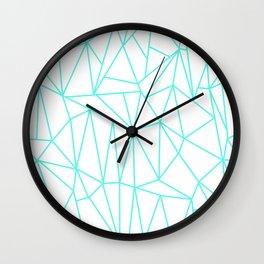 Geometric Cobweb (Turquoise & White Pattern) Wall Clock