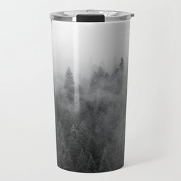 Black and White Mist Ombre Travel Mug