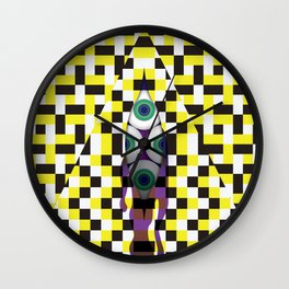 Eyes with Yellow and Black Wall Clock