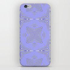 Pattern in blue iPhone & iPod Skin