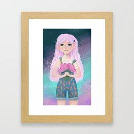 Pink Floral Framed Art Print