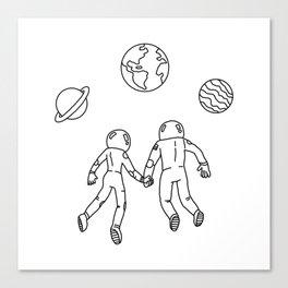 Astronaut Couple Canvas Print