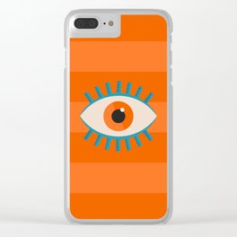 Orange Eye Clear iPhone Case